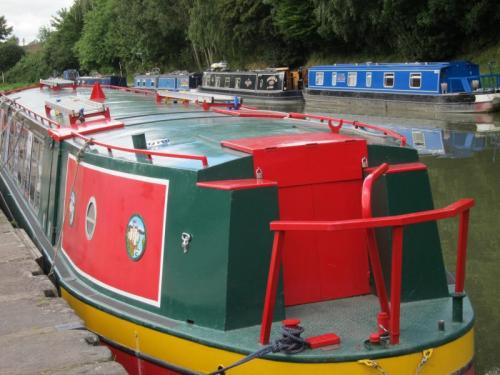 7. Canal Boat at Devizes