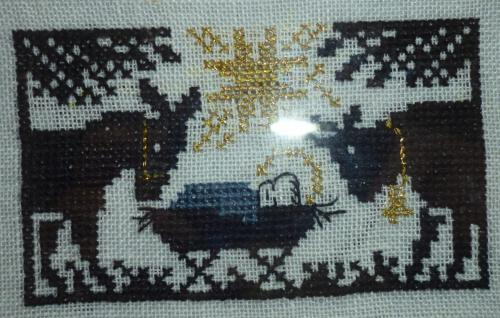 Frances Williams stitched Nativity