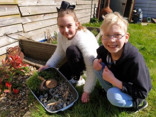 Jacob & Rebecca Easter Garden