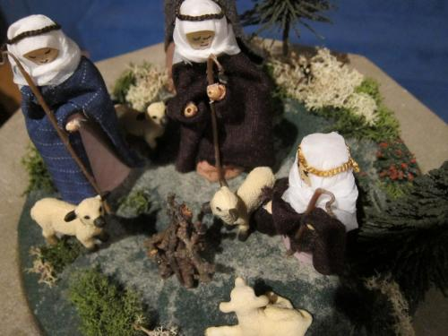 Joy Purchase - homemade shepherd scene